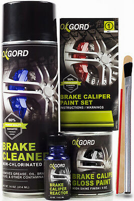 Blue Paint for Brake Calipers Rotors Engines High Heat 2-Part Epoxy Brush-On Kit