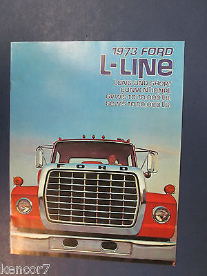 1973 Ford L-Line Trucks Sales Brochure D8324
