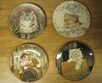 Kitten Classics Royal Worcester, Plates, 4, Purrfect Treasure, Cat Nap, + 2 More