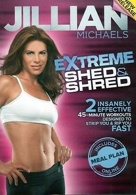 Cardio & Toning DVD - JILLIAN MICHAELS Extreme Shed and Shred - 2 Workouts!