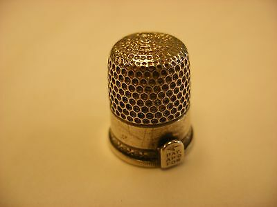 Antique Vintage Sewing Notion Sewing Thimble w/cutter Simons - No Sterling Mark