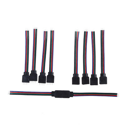 4 Pin RGB Connectors Wire Cable For 3528 5050 SMD LED Strip Lights TB
