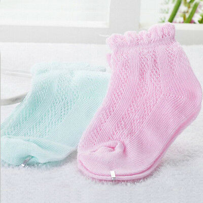 6Pairs/lot Summer Baby Girls Boys Socks Newborn Cotton Casual Mesh Socks 0-1T TB