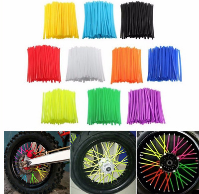 Wheel Spoke Wraps Kit Rims Skins Cover Guard Protector Motocross Dirt Bike 36pcs