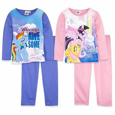Official Hasbro My Little Pony Girls Long Sleeve Pyjamas Set 100% Cotton 2017/18