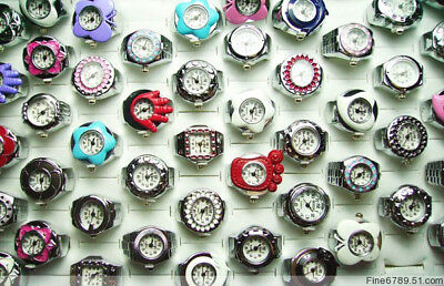 Wholesale Fashion 5Pcs Mixed Rotate Cover Watch Rings