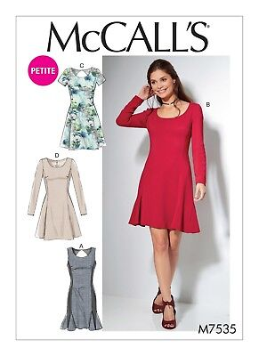 McCalls SEWING PATTERN M7535 Misses & Petite Fit & Flare Dresses 6-14 Or 14-22