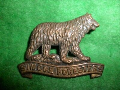 MM 126 - 35th Simcoe Foresters 1912 Collar Badge - Canadian Militia, Pre WW1