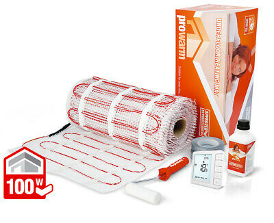 ProWarm underfloor heating 100w mat kit - All sizes in this listing