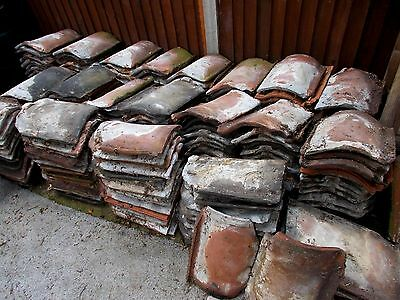 ANTIQUE TERRACOTTA PANTILES~ROOF TILES FROM A 150 YEAR OLD STABLE 50p EACH