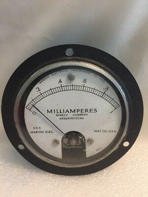 Vintage Milliamperes HS3 Marion Electrical Instrument Co. NOS With Box