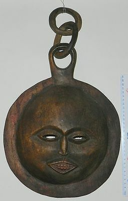 African Moon Mask / Wall Hanging - Well Carved