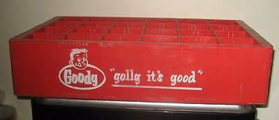 (1) 1960/70 Goody Classic Collector Edition 10oz  ACL Soda Bottle Crate 24 Com A