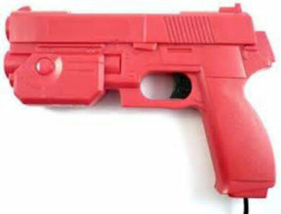 "AimTrak Light Gun Boxed ""RED""  With NEW RECOIL (Excl PSU) works on mame/ps2"