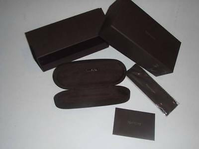 TOM FORD Reading & Sunglasses Case Brown Suede w/ Box & Cloth NEW & AUTHENTIC
