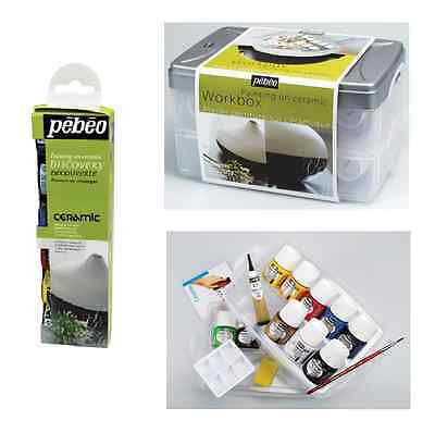 Pebeo Ceramic Painting Discovery Sets Solvent Based Opaque Pottery Metal Paint
