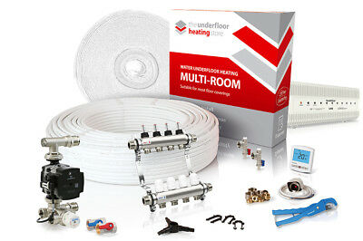 Multiple room water underfloor heating kit - all sizes in this listing