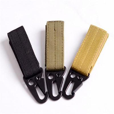 Nylon Molle Style Belt Carabiner Key Holder Bag Hook Webbing Buckle Strap Clip ""