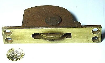 Antique Reclaimed Large Brass & Iron Victorian Sash Window Pulley