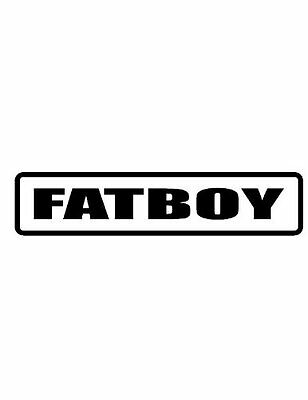 3 Fatboy Funny Hard hat decal/stickers, motorcycle helmets, Toolbox
