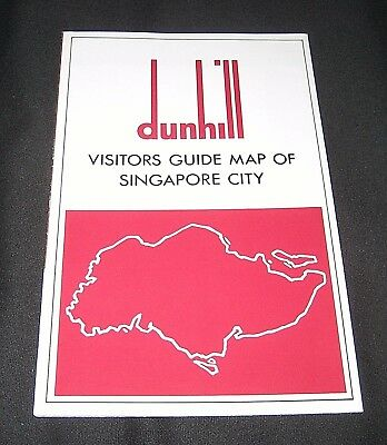 Vintage 1976 Dunhill Visitors Guide Map of Singapore City