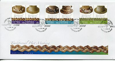 2006 Norfolk Island Traditional Hat Making FDC