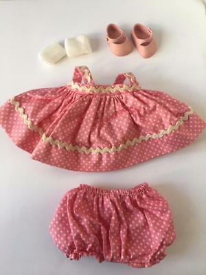 Vogue Ginnette Ginny Tagged Doll Pink Polka Dot Sun Dress Outfit 1950s Shoes Set