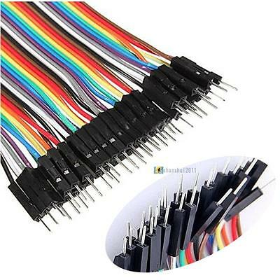 40 pin Rainbow cable dupont wire jump wire Male to Male Raspberry Pi Arduino #4