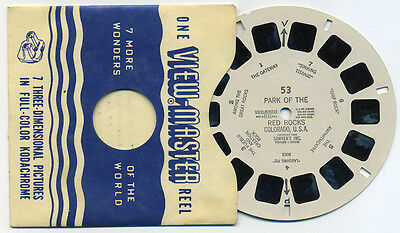 Park of the Red Rocks Colorado 1949 Sawyer's View-Master Single Reel 53