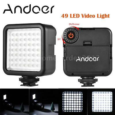 Andoer W49 Macro LED Video Light Lamp Panel 800LM for DSLR Camera DV Camcorder