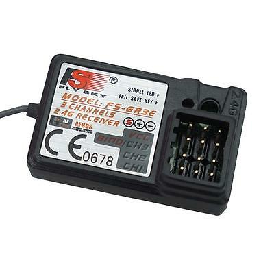 Upgraded RC FlySky 3CH 2.4G FS-GR3E GR3C Receiver For Car Boat Remote Control++