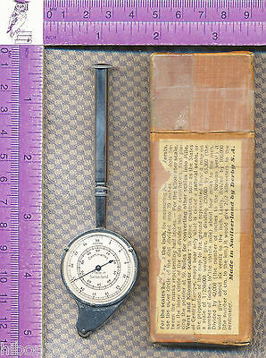 Keuffel & Esser curvimeter/map measuring tool with swivel handle w/original box