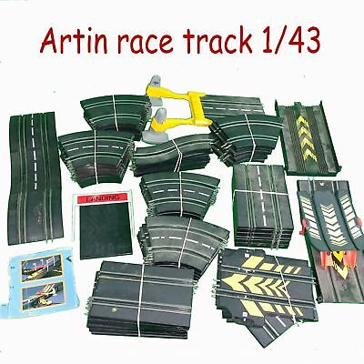 Artin 91 Piece Race Tract Jumps Counter Switch Back 1/43 Ho No Cars