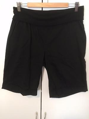 New Target Maternity Shorts Black with Stretch Size 14 - Over Belly Support