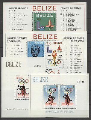 Olympiade 1980, Olympic Games - Belize - 4 Bl. ** MNH