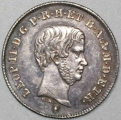 1845 TUSCANY Silver 1 Paolo Italy State Coin (17033104R)