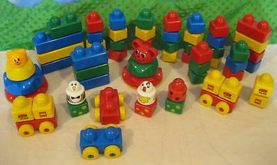 HUGE Big JUMBO Giant DUPLO primo lego stacking car ladybug CHICKEN PENGUIN Lot