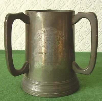 ANTIQUE ROWING TROPHY INO ROWING CLUB EIGHT OARED RACE HAMMERSMITH circa 1870