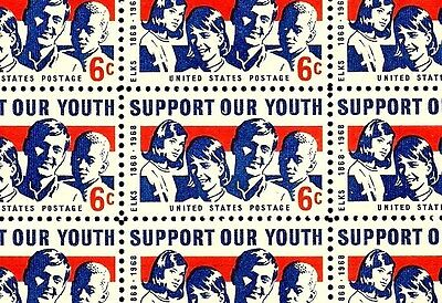 1968 - SUPPORT OUR YOUTH (ELKS CENTENARY)  #1342 Full Mint -MNH- Sheet of Stamps