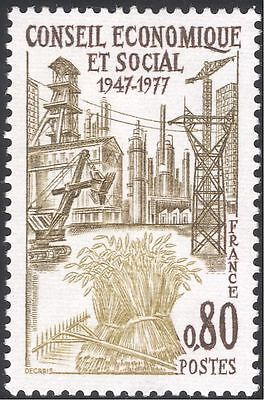 France 1977 Coal Mining/Oil/Tractor/Factory/Industry/Farming/Transport 1v n43842