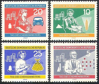 Germany 1960 Chemical Industry/Trabant Car/Farming/Clothes/Atoms 4v set (n41749)
