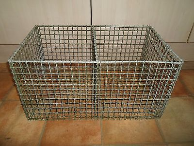 Vintage Time Worn Galvanised Double Storage Crate Industrial Shabby Chic Upcycle