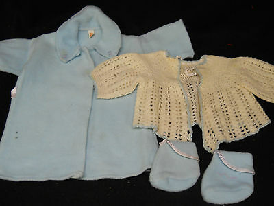 VTG Robe Booties Blue BEACON Crochet Sweater