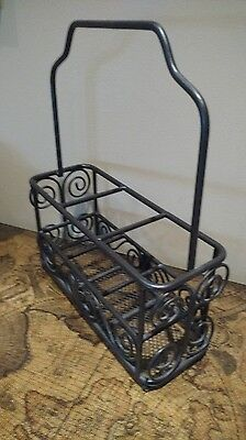 Longaberger Foundry Wrought Iron Silverware holder caddy, great item FREE SHIP!