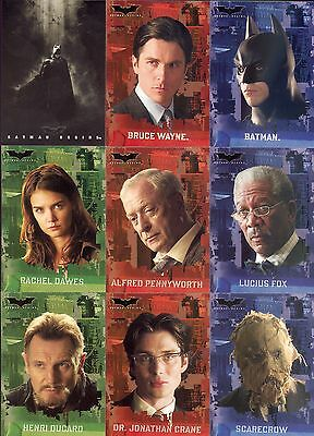 Batman Begins Movie 2005 Topps Complete Base Card Set Of 90 Dc