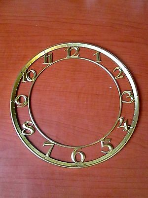 New Old Stock Brass Cutout Numbers Clock Dial Chapter Ring (155K)