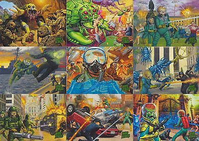 Mars Attacks Invasion 2013 Topps Complete Base Card Set Of 95 Sf