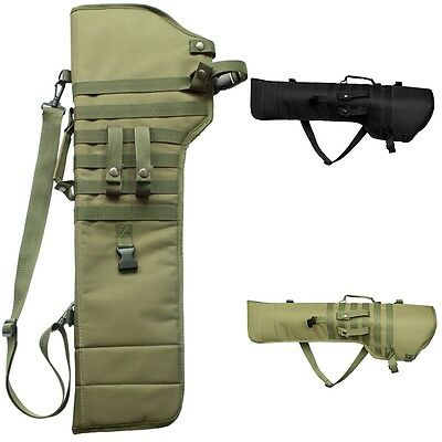 Tactical Rifle Shotgun Scabbard MOLLE Shoulder Sling Padded Case Horse ATV