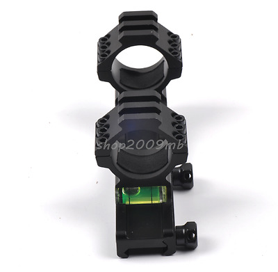20mm Rail Mount&Bubble Level for Rifle 30mm Scope Ring Picatinny