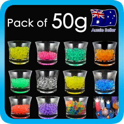 Crystal Soil Beads Mud Water Jelly Gel Ball Wedding Flower Decoration Bag of 50g